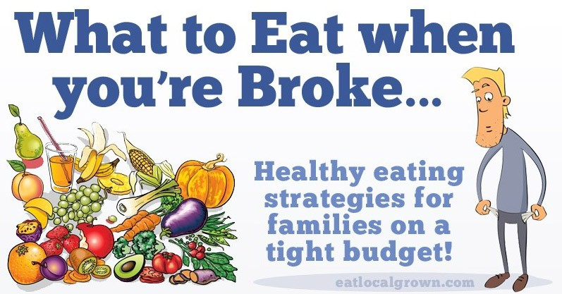 Eating healthy foods while on a budget or fixed income